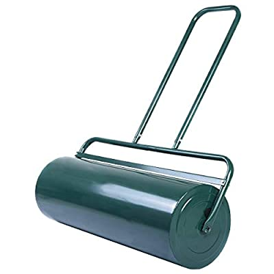 Goplus Lawn Roller Tow Behind Water Filled Poly Push for Garden, Green