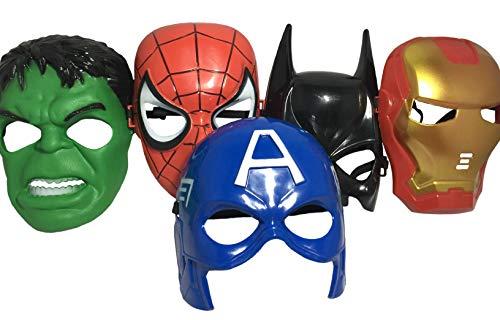 Spider-Man, Batman, Hulk, Iron Man, Captain America
