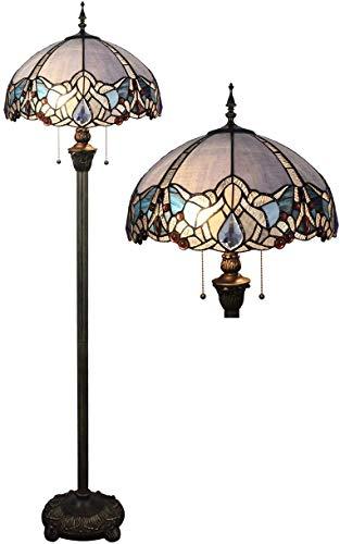 MISLD 16 Pulgadas Barroco Simple Sala De Estar Dormitorio Lámpara De Noche Lámpara De Pie Lámpara De Pie Atmosférica