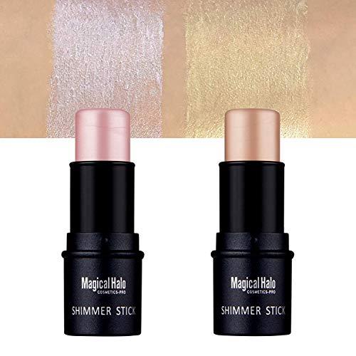 Highlighter Stick, iYoway Shimmer Cream Powder Waterproof Light Face Cosmetics, Creamy Self Sharpening Crayon Stick Brightener