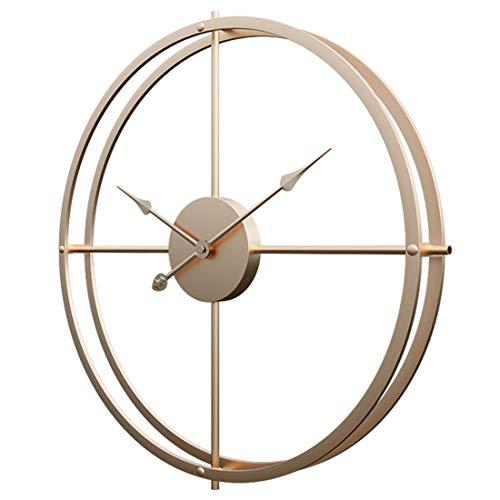TETAKE - Reloj de Pared 3D (60 cm, silencioso, Metal), Color Dorado, Dorado, 60 * 60 * 6 cm