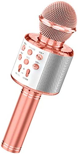 Karaoke Microphone for Kids Wireless Bluetooth Microphone Girls Toys with LED Lights Magic Voice product image