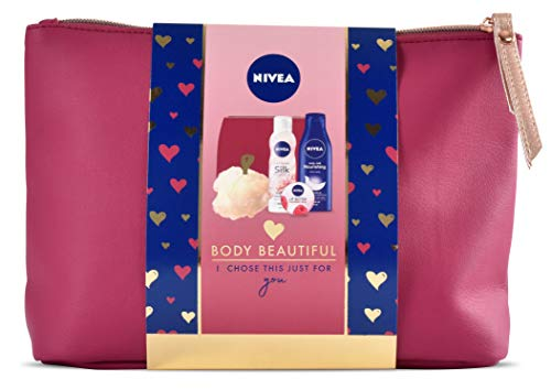 Nivea Gift Set, Body Beautiful Gift Pack for Her with 4 Items