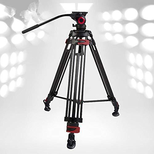 HYLXF Treppiede per fotocamera Miliboo 603A Treppiede per fotocamera professionale da viaggio con testa fluida Treppiede in alluminio resistente Uccello da tiro 75mm Dimensione ciotola