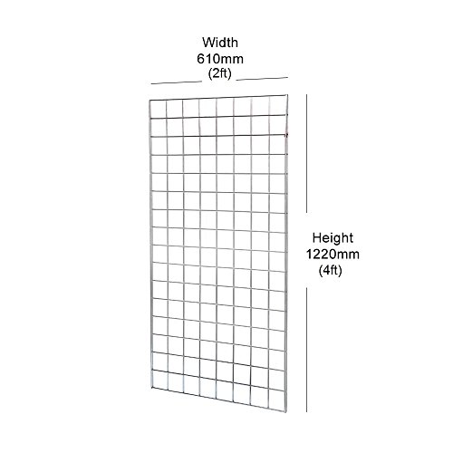 Gridwall Mesh Display Panel - 1220mm (4ft) x 610mm (2ft) 4ft Gridwall Panel