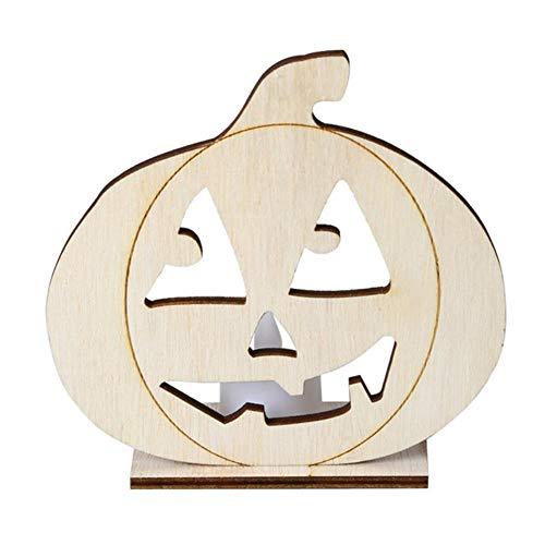 DYTJ-Candles Halloween DIY Holz Kerzenlicht Vintage Halloween Party Led Dekorative Lampe Produkte Für Halloween DIY Spielzeug Stil # R5, C
