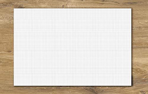 Schreibtischunterlage kariertes Papier DIN A2   40 Blatt zum Abreißen   Büro, Homeoffice