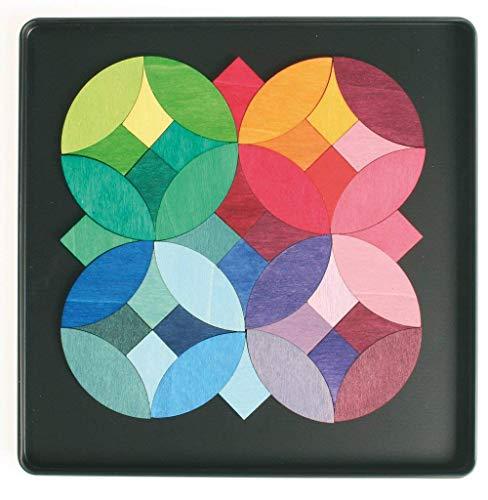 Magnet Puzzle Cercles de bouleau et de bois Popal Grimm