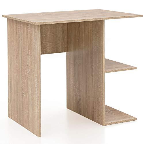 FineBuy Schreibtisch 82 x 76 x 60 cm mit Ablage Sonoma - Eiche | Kinderschreibtisch | Kleiner Laptop PC Tisch Büro ohne Rollen | Bürotisch | Arbeitstisch Klein Computertisch