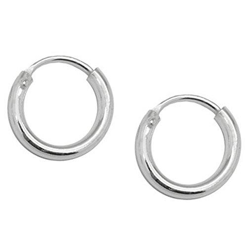 SoulCats® Creolen aus 925 echt sterling Silber, Durchmesser: 8 mm