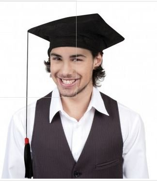 Déguisement Chapeau Etudiant Laureat Taille Unique