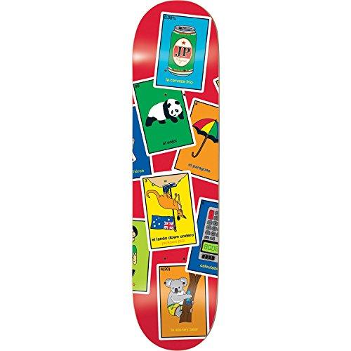 Enjoi Pilz La Loteria Deck-8.0R7–montiert als Komplett Skateboard