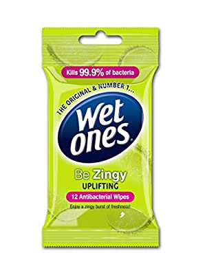 Wet Ones Be Zingy Antibacterial 12 Wipes, Pack of 6 by Energizer Group