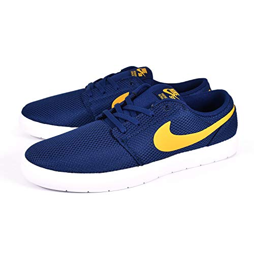 Nike Herren Sb Portmore Ii Ultralight Sneakers, Mehrfarbig (Blue Void/Yellow Ochre/White 001), 40 EU
