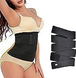 Snatch Me Up vendaje para mujeres, cinturón de apoyo de cintura lumbar, cinta invisible para entrenamiento de cintura, cinturón de cintura adelgazante para mujer, tirantes ajustables y cómodos (Negro)