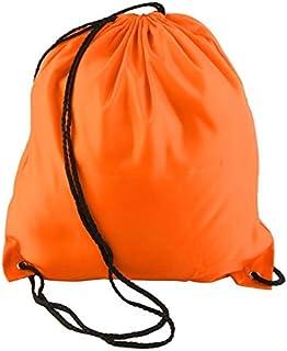 Drawstring Backpack Bag Sports Cinch Sack String Backpack Storage Bag for Gym and Traveling, School PE bag (Orange)