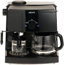 KRUPS XP1500 Coffee Maker and Espresso Machine Combination, Black
