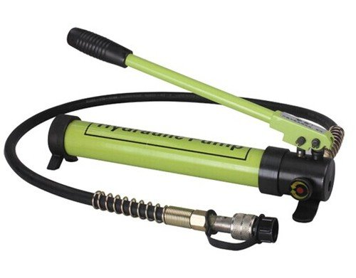 Gowe Pompe à huile hydraulique Pompe à main Pompe à main hydraulique manuel punp pour connecter à sertir Tête pression de sortie max 700 kg/cm2