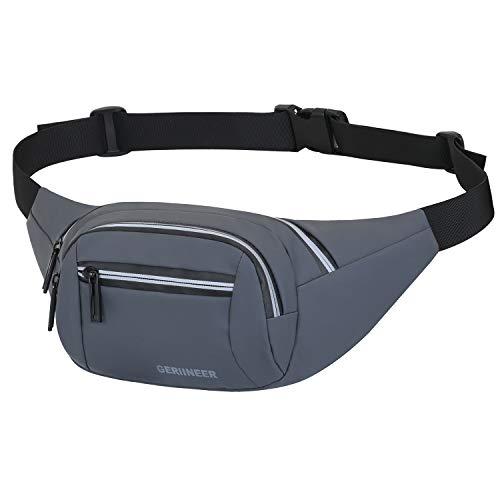GERIINEER Waterproof Bumbags for Women Ladies Men Bum Waist Bag with...