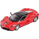 Coche de Modelo 1:32 Ferraris Laferrari Fxxk Juguete de aleación de Coches Diecast y vehículos de Juguete Sonido y luz colección de Modelos de Coche Juguetes de Coche para niños