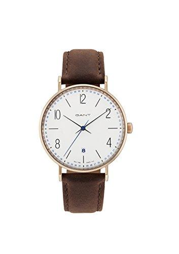GANT Herren Analog Quarz Uhr mit Leder Armband GT034001