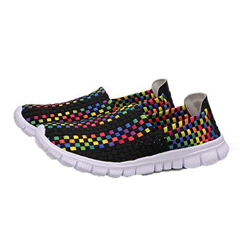Mocasines Zapatos para Mujer Zapatillas de Deporte en Primavera Verano Resbalón Informal al Aire Libre Suave Estilo sucinto Zapatos de respiración Ligera