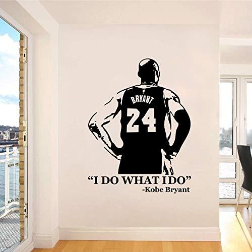 HAGO LO QUE HAGO Kobe NBA Basketball Star Kobe Bryant # 24 Citas inspiradoras Etiqueta de la pared Vinilo Calcomanía para autos Fans Dormitorio Sala de estar Club Decoración para el hogar Mural
