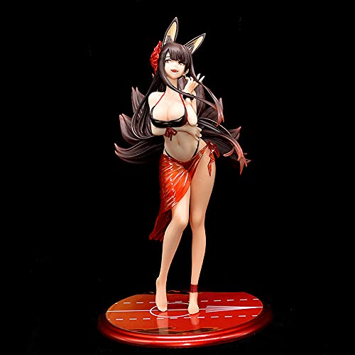 Figura de acción de Azur Lane, Kit de garaje akagi de 10.2 pulgadas, Antropomorfismo de las aeronaves de Akagi, Postura permanente, PVC Material Anime Hermosa muñeca de niña para adornos de regalo