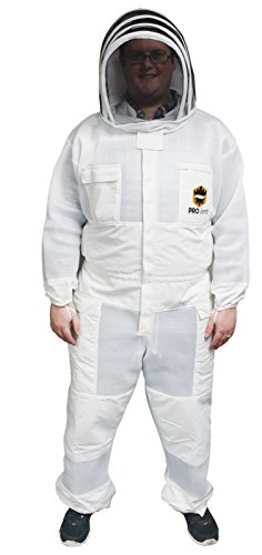 Mann Lake Provent Beekeeper Suit with Self Supporting Veil, X-Large