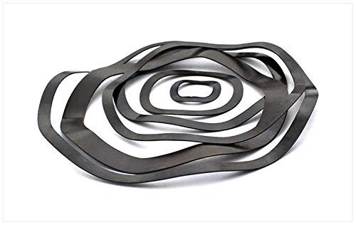 Zmaoyun-Muelles de presión Spring Steel 65mn Onda Cresta arandela de Onda de Onda en Forma de arandela de Resorte, 5pcs, DIY Multiusos (Inner Diameter : M40 X 50 X 0.5)
