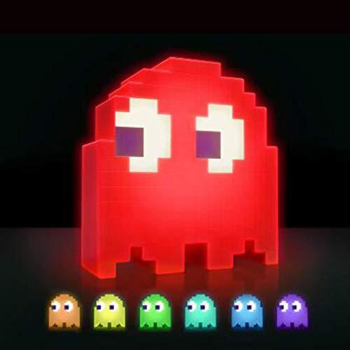 SUNSHIN Pac-Man Pixel Nachtlicht-LED-Kriege Bunte Tisch, Schreibtisch-Lampen-Partei Kinder Atmosphäre LAMPARA Essen Erbsen Geist Licht Weihnachten-Kind-Geschenk,Rot