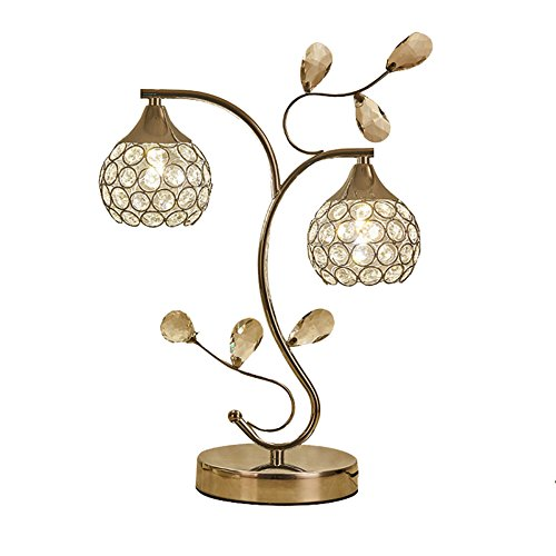 ZWL Lampe de table en cristal, lampe de bureau de style moderne K9 cristal, lampe de table simple 42cm haute lumière élégante en cristal, lampes design Convient pour la maison, chambre à coucher, salon, salle à manger fashion.z ( taille : 42*30cm )