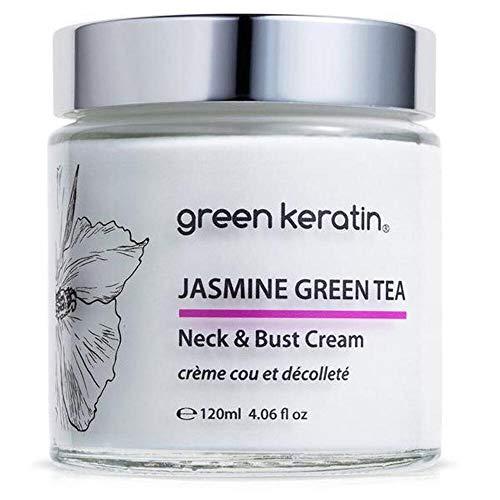 Jasmine et le Thé Vert * Crème Cou et Décolleté * Avec l'huile d'Argan bio et concentré acide hyaluronique - taille professionnel : 120ml