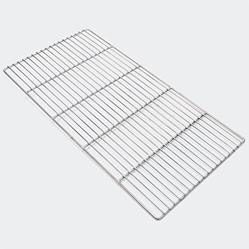 Wiltec Edelstahl Grillrost eckig 58 x 30 cm rostfrei für Holzkohlegrill, Gasgrill und andere