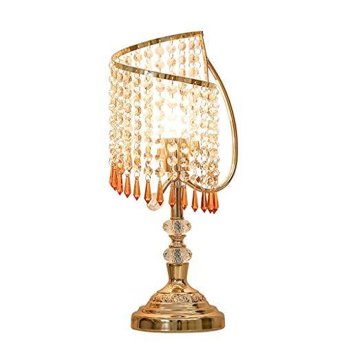 Lámpara de mesa de cristal moderna creativa lámpara de mesita de noche para sala de estar, dormitorio, habitación de invitados lámpara de mesita de noche (interruptor: botón)