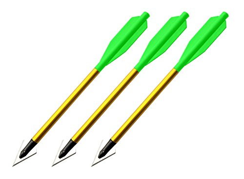 "BOLT Crossbows Broadhead Hunting Bolts 3 Pack, 6.5"""