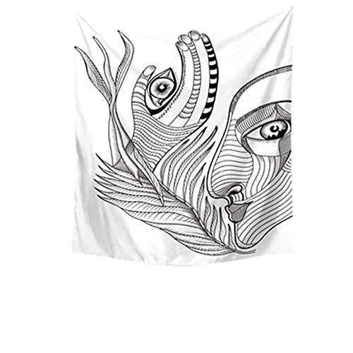 YYRAIN Tapiz De Pintura Hecha A Mano Toalla De Playa Multifuncional Decoración del Hogar Tela De Fondo De Pared Tela Colgante 78.74x59.05 Inch{200x150cm} F