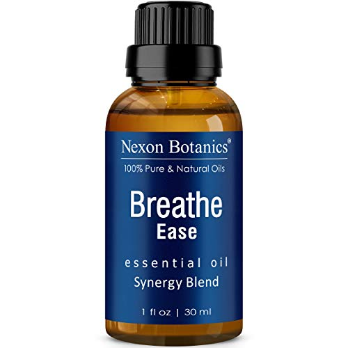 Breathe Essential Oil Blend 30 ml - Pure, Natural Breath Easy Essential Oil from Eucalyptus, Peppermint, Rosemary, Niaouli - Helps Ease Sinus, Colds, Cough and Congestion - Nexon Botanics