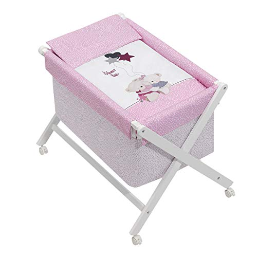 Minicuna Volamos Baby Rosa con Textil
