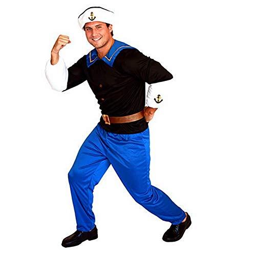 IFANSTYLE Popeye bemanning Cosplay kostuum Halloween carnaval partij podium kostuum bal jurk mannen zeeman pak uniform set