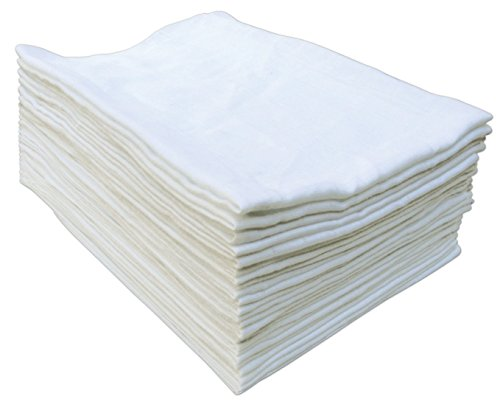 Sasma Home - Large 70x70 Baby Muslin Squares - 100% Natural Soft Cotton Baby Muslin Cloths - Soft Muslin Wash Cloths, Muslin Swaddle Blanket (10 Pack)