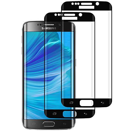 DOSMUNG Verre Trempé pour Samsung Galaxy S7 Edge, [Lot de 2] Film de Protection d'Écran, 3D Couverture Complète/Haut Définition/Dureté 9H/Anti-Rayures Film Protecteur Vitre pour Samsung Galaxy S7 Edge