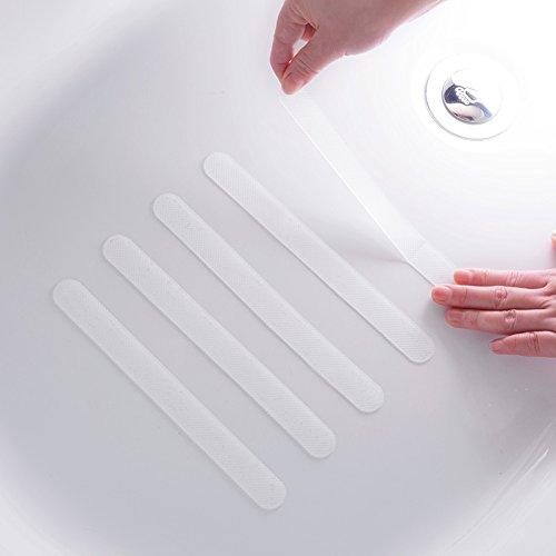 JSW18枚入浴槽滑り止めバスマット浴室マットバスルーム滑り止めテープキッチン階段プール滑りやすい地面転倒防止耐熱性防水スリップマットストリップ20*2cm