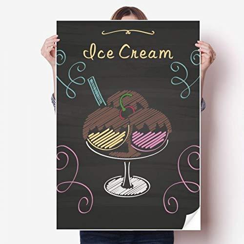 DIYthinker Drie Zoete Chocolade Ijs Bal Vinyl Muursticker Poster Mural Wallpaper Room Decal 80X55Cm