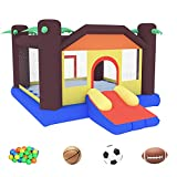 ALINUX Bounce House, Inflatable Bouncy Castle for Kids Jumping House with Durable Sewn and Extra Thick, Great Gift for Indoor Outdoor