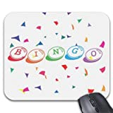 ASDAH Mauspad Bingo aus farbigem Schriftzug auf Mauspad, Weiß