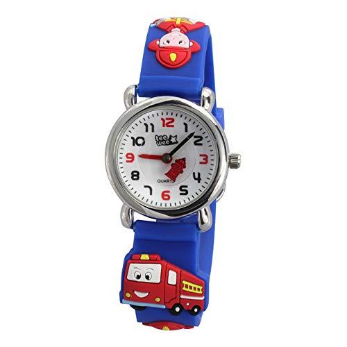 Tee-Wee Uhr für Kinder Feuerwehr Kautschuk Armband blau Analoguhr D3UW953B