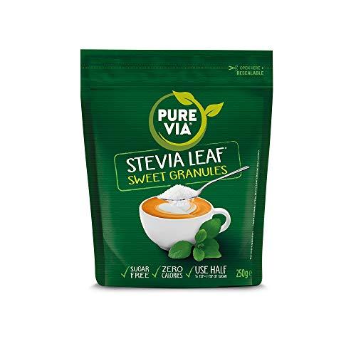 Pure Via Stevia Leaf Sweet Granules 250g X 4 (1Kg Pack)