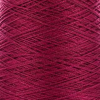 Valley Yarns 5/2 Mercerized Cotton Weaving Yarn, 5 Crochet Thread, 100% Cotton - #3794 Burgundy