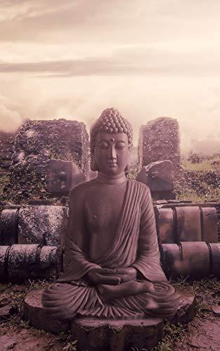Notebook: Buddha Buddhism Religion Monk Buddhist 5 x 8 150 Ruled Pages